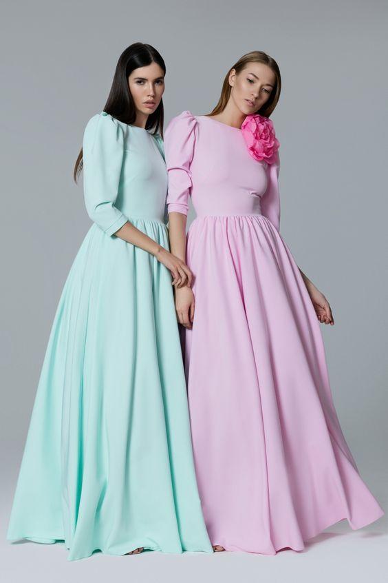 Платье «Леди Ди» мятное, Платье «Леди Ди» розовое, Цена — 24 990 рублей