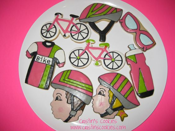 Yesterday we pinned bike cookies. Today, all-things cycling cookies.  Thanks to our Facebook fan @CristinsCookies  (https://www.facebook.com/specializedWMN)