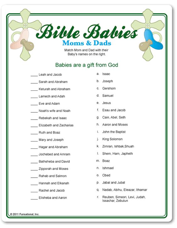 easy baby shower games bible babies moms and dads baby shower game