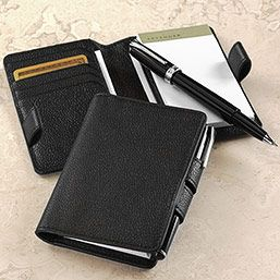 Writers, Pens and Pebbled leather