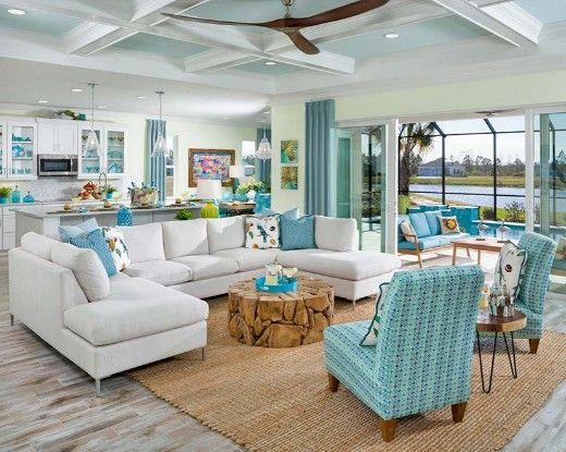 Coastal Home Design Beach Decor With Latitude At Margaritaville Retirement Communities Coastal Beach House Decor Coastal Living Rooms Home Interior Design