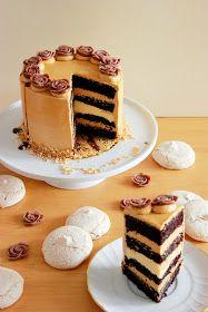 Kiara`s cakes: Tarta de chocolate, dulce de leche y plátano