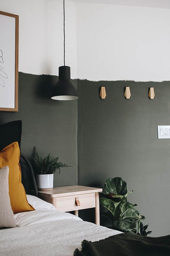 Diy Raw Edge Paint Line Within The Grove Bedroom Wall Designs Green Accent Walls Painting Edges