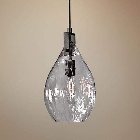 """Uttermost Campester 9"""" Wide Black and Clear Mini Pendant - $162.80"""