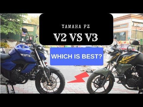 2019 Yamaha Fz V3 Abs Vs V2 What Is Changed Complete Comparison
