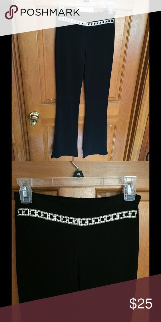 Dress Pants Beautiful Rhinestone Dress Pant, stretch material Pants Boot Cut & Flare