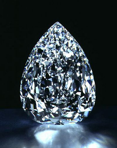 Star of Africa, the world's largest flawless cut diamond. It is 530 carats!: