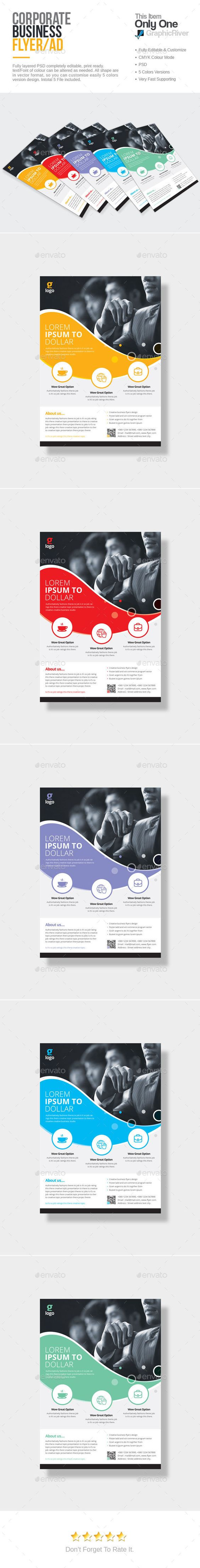 Corporate Flyer Template PSD. Download here: http://graphicriver.net/item/corporate-flyer/15223825?ref=ksioks
