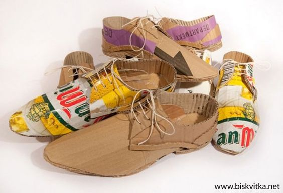 Shoes of cardboard