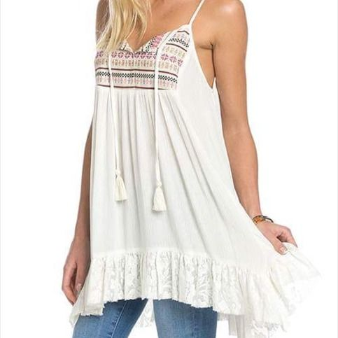 Ivory mix spring tank top sold by 2 Chicks