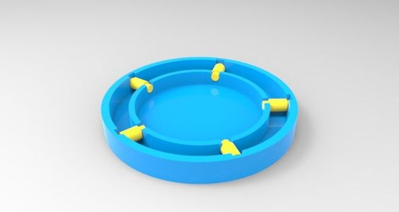 simple lazy susan. Not a full working download but to be used as Idea for rotating table. maybe for 3d scanner