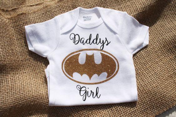 Batman Onesie Baby girl Daddy's girl Mommy's by EllaRuseBoutique