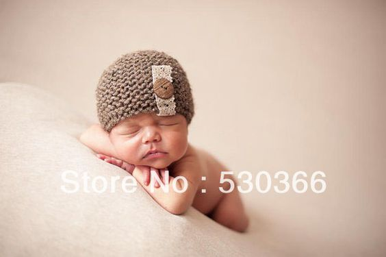 Goedkope , koop rechtstreeks van Chinese leveranciers:  leuke schattige bal bruin gratis verzendingstijl met de hand gehaakt babymutsje fotografie rekwisieten pasgeboren baby cap&nbsp