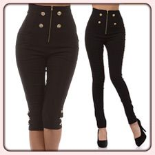 Pants &amp Jeans  1950&39s Style High Waist Pants High Waisted