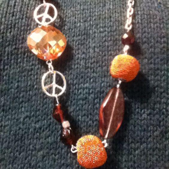 Purple and orange (Clemson) necklace for a friend
