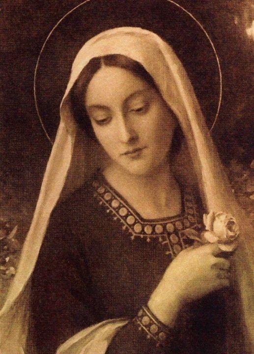 Kochał Ją taka bardzo, że chciał się z Niej narodzić. Przyjąć Jej ciało... nazywać Ją matką... pozwolić tulić się do snu, współradować i współcierpieć... Na Jej prośbę uczynił pierwszy cud, ale najpierw powołał Ją do życia... Bóg pragnie czynić cuda także w naszym życiu i robi to często za Jej wstawiennictwem. Jeśli coś Cię trapi, czegoś pragniesz, coś jest dla Ciebie trudne, powierz to Maryi.