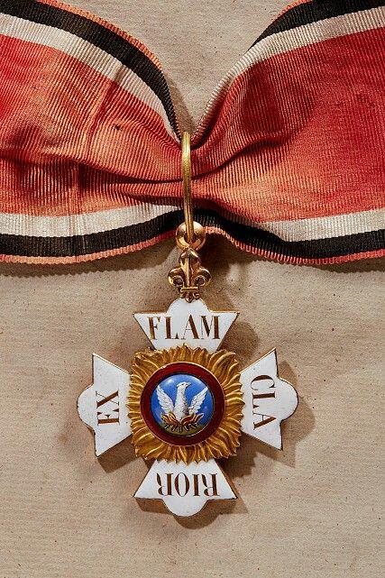 FÜRSTENTUM HOHENLOHE - FÜRSTLICH HOHENLOHESCHER HAUS- UND PHÖNIX-ORDEN: Kommandeurkreuz um 1839 / Order Insignia : Principality of Hohenlohe House Order of The Phoenix, Badge -  Commanders Cross from 1839
