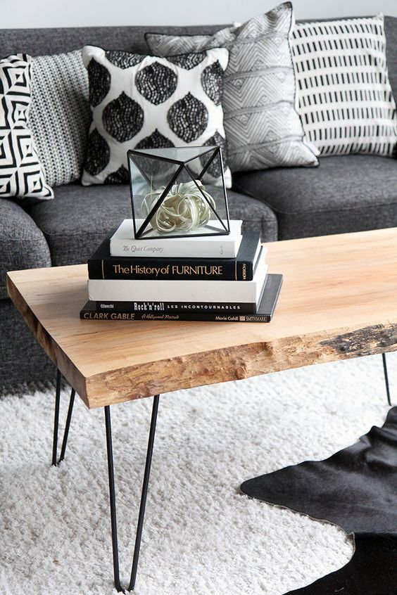 MY DIY | Wood Slab Coffee table: