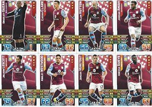 Match Attax 2015/2016 Aston Villa Team Base Set Plus Star Player, Captain & Away Kit Cards 15/16 #afc #astonvilla
