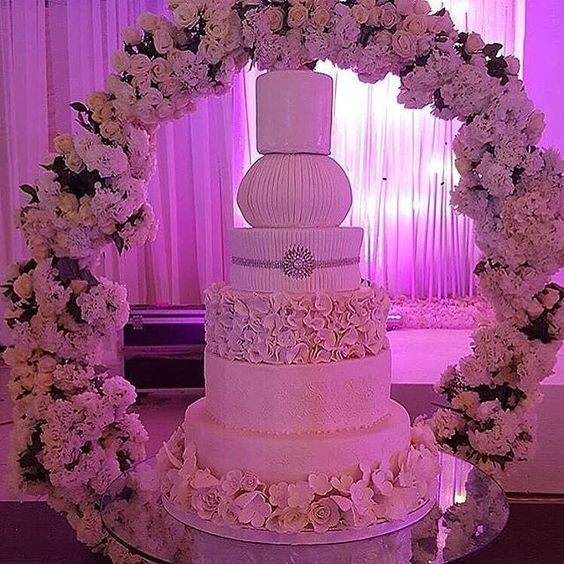 Wedding cake by @heladodelicia #cake #weddingcakeinspiration #floralarrangement #instapost #weddingdecor
