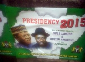 AMAECHI POSTERS...WAY TO GIVE A DOG A BAD NAME BEFORE THE HANGING? WHOM ARE THEY FOOLING...OBVIOUSLY THOSE SURROUNDING OUR PREZ HAVE CONVINCED HIM THAT FOUL IS FAIR!