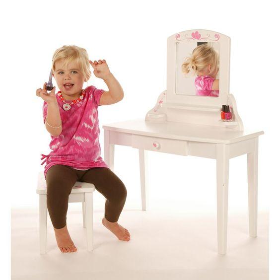 Girls Dressing Table : Girls Dressing Table  Borntotoddle.com Gorgeous white dressing table ...