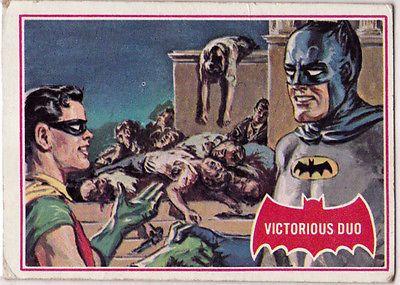 1966 Vintage Batman Red Bat Puzzle Back Trading Card 28A T C G USA   eBay