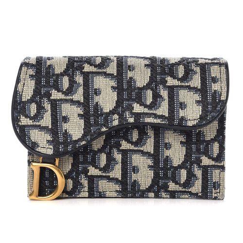 Christian Dior Oblique Saddle Card Holder Blue Bestfashionhq Com Dior Luxury Purses Purses And Handbags