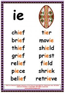 Printables Ie Words Phonics List phonics poster ie words gaeilge pinterest words