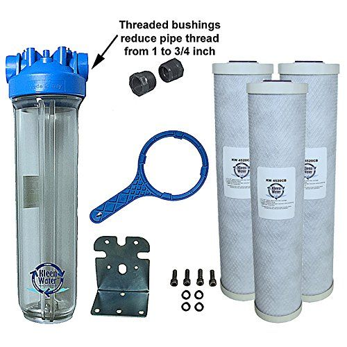 Kleenwater Premier4520cl Chlorine Whole House Water Filter System 3 4 Inch Inlet Outle Whole House Water Filter Water Filters System Under Sink Water Filters