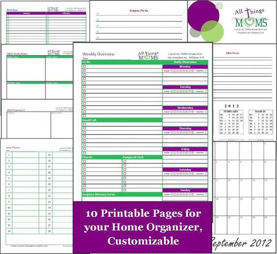 Chevron Bill Organizer - Printable PDF No Place Like Home - bill organizer