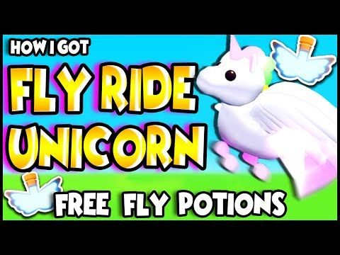How To Get A Fly Ride Unicorn Adopt Me Roblox Youtube Roblox Adoption My Roblox