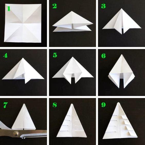 Origami para niños: elaborad de forma divertida un árbol de Navidad…