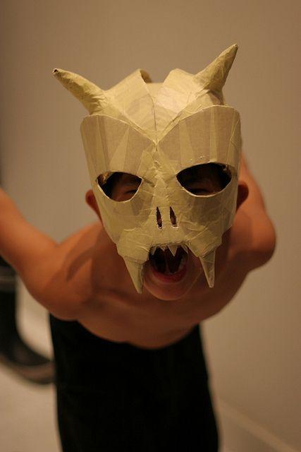 Cardboard and tape Skull Mask | Flickr - Photo Sharing!