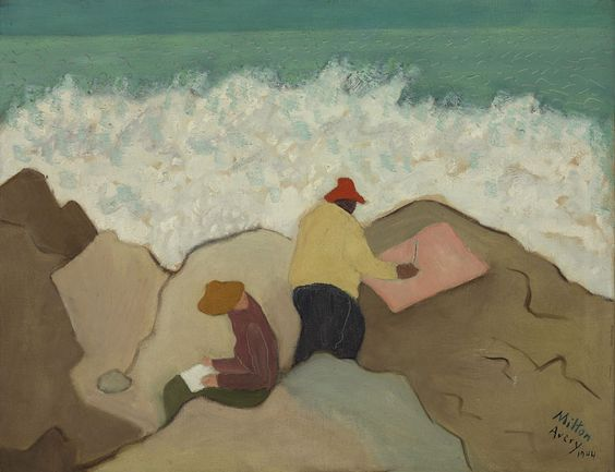 1944 Milton Avery (American artist, 1885-1965) Sketching by the Sea