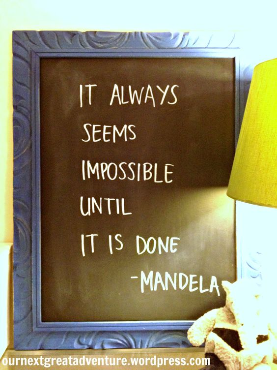 DIY Chalk Paint Chalk Board with Quote
