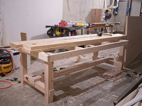Diy Rustic Dining Room Table dining room table diy- erin loechner - love this heavy-duty and