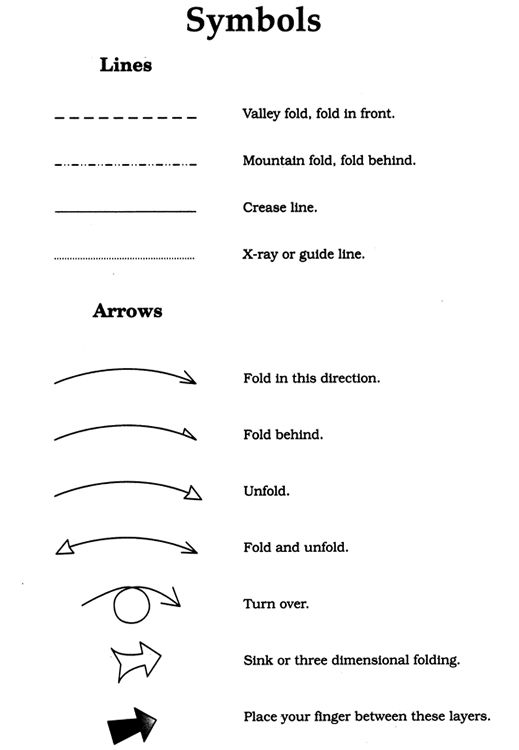 Origami Symbols Gallery Instructions Easy For Kids