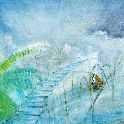 Die große Freiheit, Element Luft Malerei von Hans-Jakob Bopp - Kreavitalis