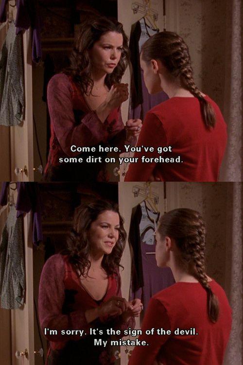 Before Lorelai's first date with Peyton Sanders (Season 3)