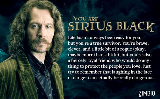 I Laugh In The Face Of Danger Quote: I'm Sirius Black! Which Member Of The Order Of The Phoenix