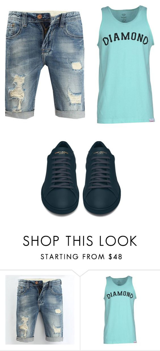 """Untitled #252"" by dudclj on Polyvore featuring Diamond Supply Co., Yves Saint Laurent, men's fashion and menswear"