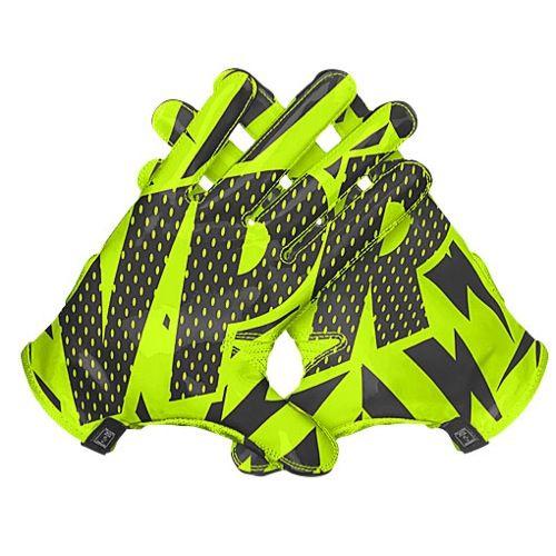 Nike Football Gloves Yellow: MEN'S NIKE VAPOR KNIT FOOTBALL GLOVES