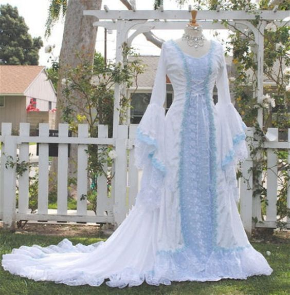 Lace Fantasy Medieval Fairy Wedding Dresses Gowns Fairy Tale Narnia Style Custom in Clothing, Shoes & Accessories, Wedding & Formal Occasion, Wedding Dresses | eBay