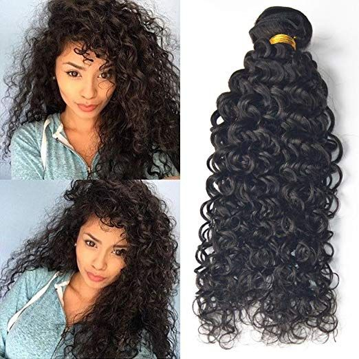 Amazon Com Jerry Curly 100 Real Human Hair Extension Weave