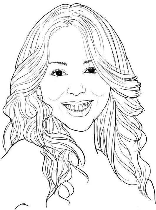 Mariah Carey Famous People Coloring Pages
