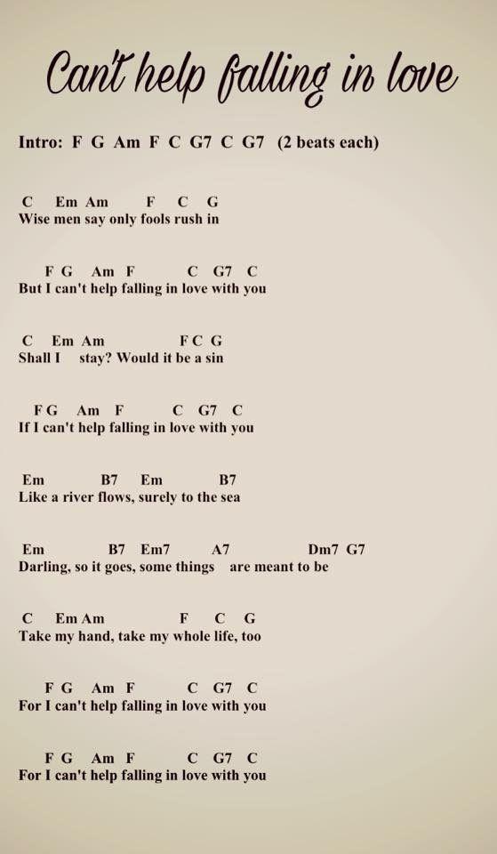Can T Help Falling In Love U K U L E L E In 2020 Gitarre Lieder Ukulele Lieder Musik Gitarre