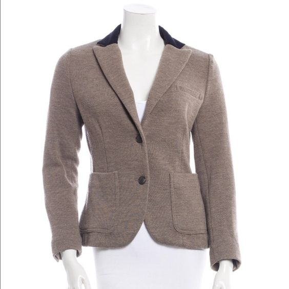 Rag & Bone Elbow Patch Jacket In perfect condition! Color is taupe, with black elbow patch and collar. Runs true to size. rag & bone Jackets & Coats Blazers