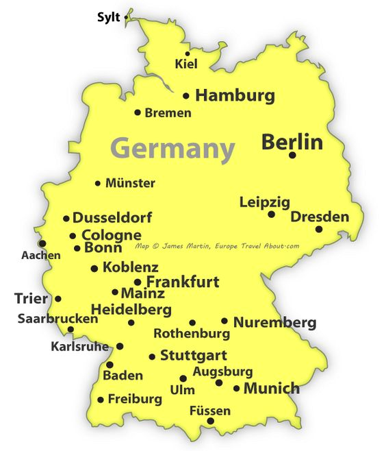 map of germany with major cities - 28 images - map of major cities ...