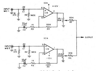 Low noise microphone preamplifier circuit -ElecCircuit.com ... on
